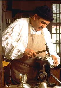 James Curtis when he was the Master Silversmith at Colonial Williamsburg
